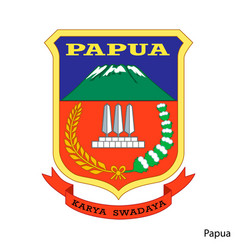 Coat arms papua is a indonesian region vector