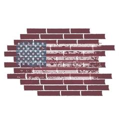 concept with usa flag on brick wall vector image