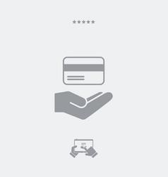 Credit card concept - minimal modern icon vector