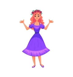 Cute collection of beautiful princess vector image