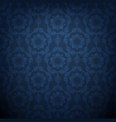 dark blue lace background vector image