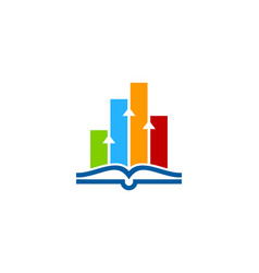 Data book logo icon design vector