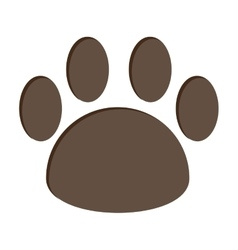 Dog foot print isolated icon design vector