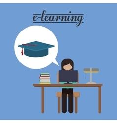 e-learning concept design vector image