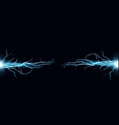 electric discharge shocked vector image