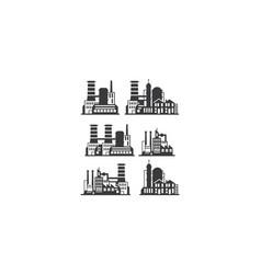 factory building logo icon vector image