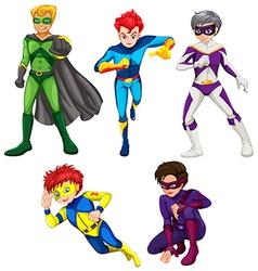 Five superheroes vector image