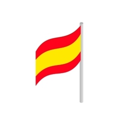 Flag of Spain icon isometric 3d style vector image