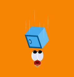Flat icon on theme humor safe falls vector