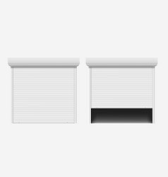 garage door automatic construction door aluminum vector image