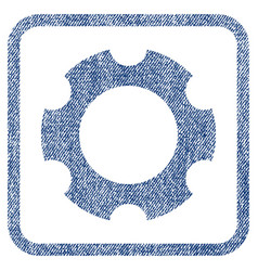 gear fabric textured icon vector image vector image