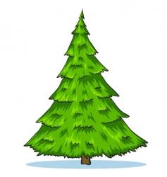 Green natural Christmas tree illustration vector