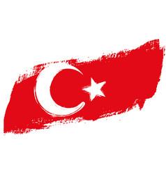 Grunge turkey flag vector