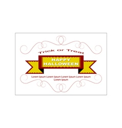 Halloween logo with vintage ornament and ribbon vector image
