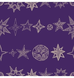 Hand drawn stars vector