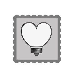 heart shape bulb vector image