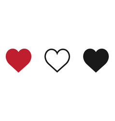 hearts icon isolated on white background vector image