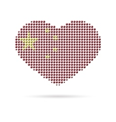 I love China Creative heart flag vector image