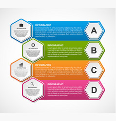 infographics template for business presentations vector image