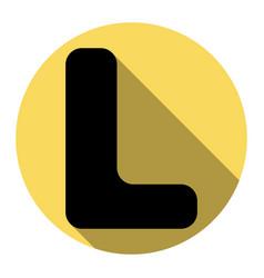 letter l sign design template element vector image
