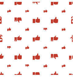 Like icons pattern seamless white background vector