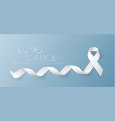 Lung cancer awareness calligraphy poster design vector