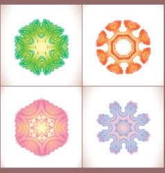 Mandala colored set of vector