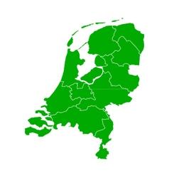 Map of thr Netherlands vector