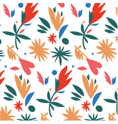 mexican style paper cut colorful pattern vector image