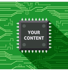 Microchip your content flat background vector