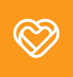 Modern professional icon heart in medical theme vector