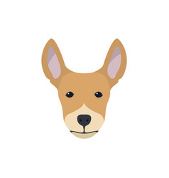 multicolor simple dog head silhouette vector image
