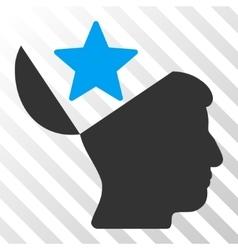 Open Head Star Icon vector image