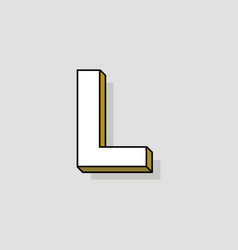 pop art logo letter l vector image