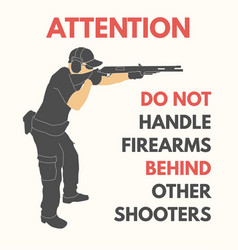 Practical shooting safety rules vector