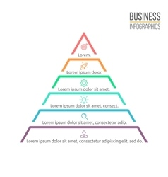 Pyramid triangle with 6 steps levels vector image