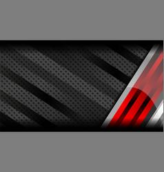Red grey metal background vector