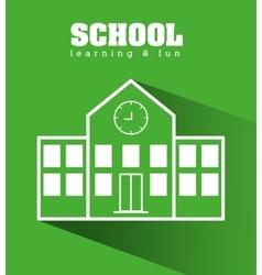 School graphic design vector image