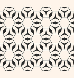 seamless pattern geometric floral figures vector image