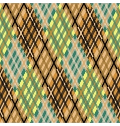 Seamless tartan pattern Diagonal brown palette vector image