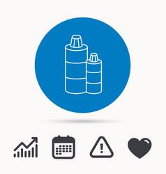 Shampoo bottles icon liquid soap sign vector