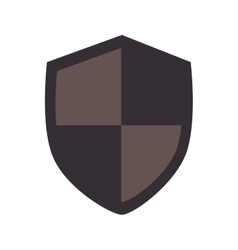 shield protection insignia vector image