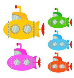 submarine cartoon or clipart cartoon vector image