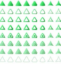 Triangle shape polygon icon template set vector