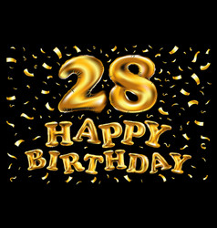 Twenty eight years birthday celebration logotype vector