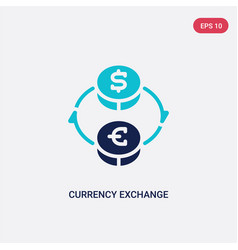 Two color currency exchange icon from business vector