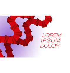 two curly parallel red ribbons vector image