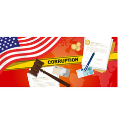 usa united states of america fights corruption vector image