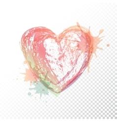 Watercolour heart vector