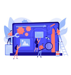 Website maintenance concept vector